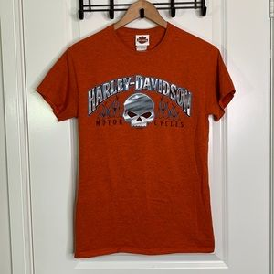 Harley-Davidson Small Orange Tee Shirt